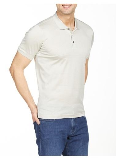 Bisse TS20Y20110 Regular Fit Desenli Polo Yaka T-Shirt Gri